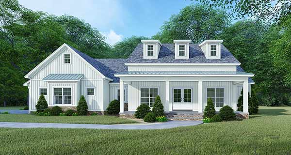 Modern-farmhouse Style House Plans Plan: 12-1512