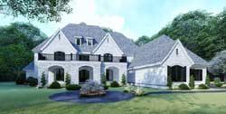 European Style Home Design Plan: 12-1513