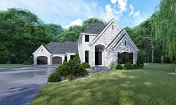 European Style Home Design Plan: 12-1515