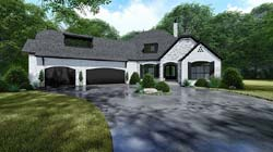 European Style Home Design Plan: 12-1518