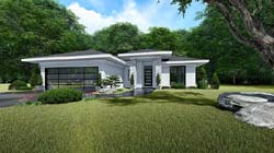Contemporary Style House Plans Plan: 12-1519