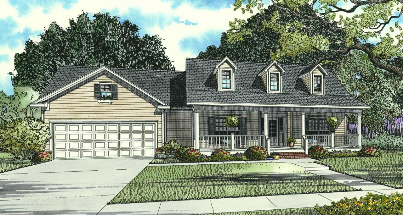 Country Style Home Design Plan: 12-152