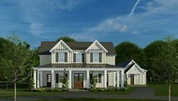 Modern-Farmhouse Style House Plans Plan: 12-1526