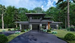 Modern Style Floor Plans Plan: 12-1528