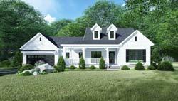 Modern-Farmhouse Style Home Design Plan: 12-1529