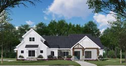 Modern-Farmhouse Style Home Design Plan: 12-1530