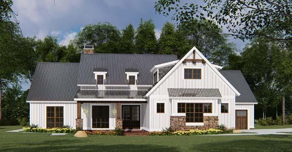 Modern-Farmhouse Style Home Design Plan: 12-1531