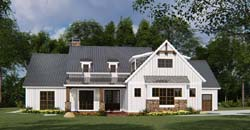 Modern-Farmhouse Style Home Design Plan: 12-1531