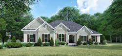 French-Country Style Floor Plans Plan: 12-1534