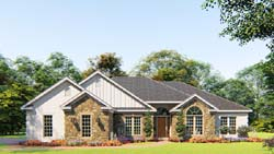Traditional Style Home Design Plan: 12-1539