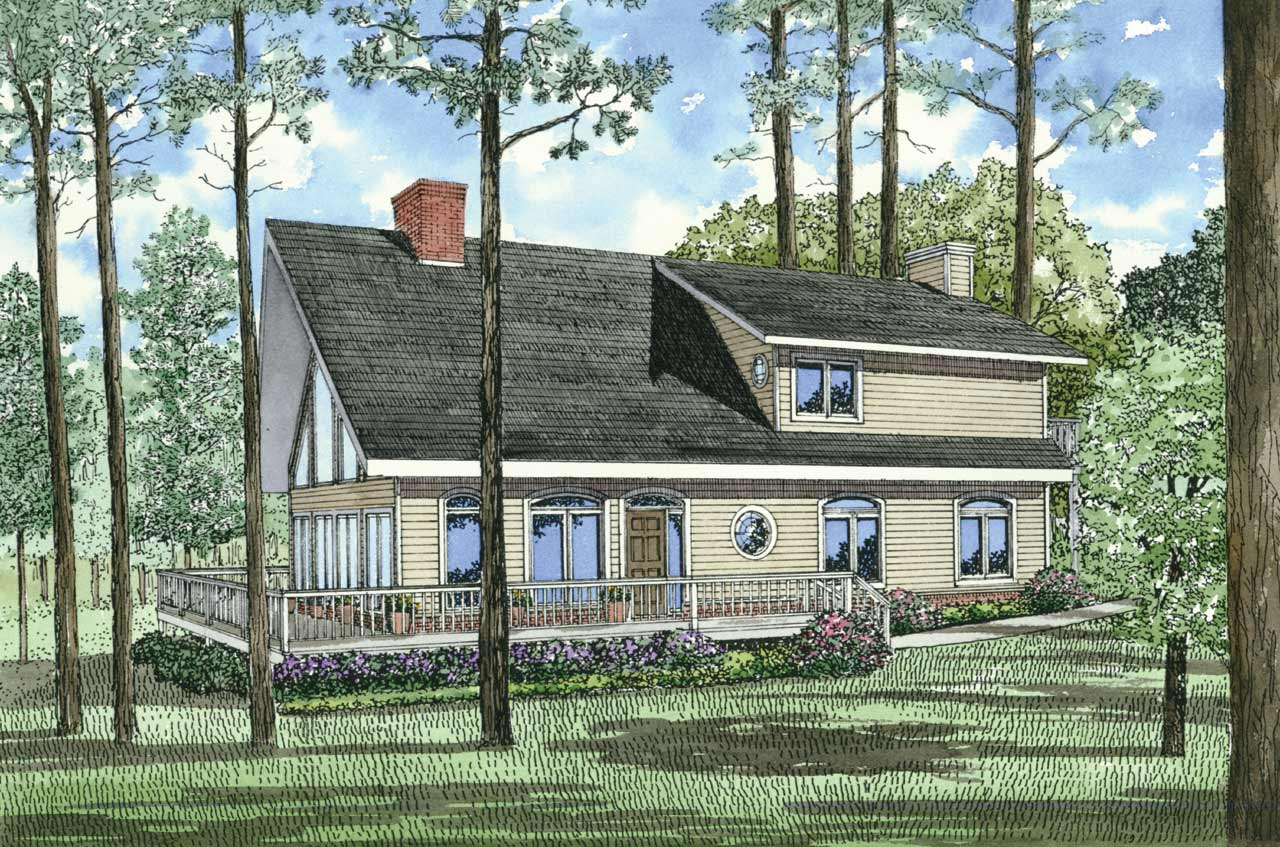 Contemporary Style Floor Plans Plan: 12-154