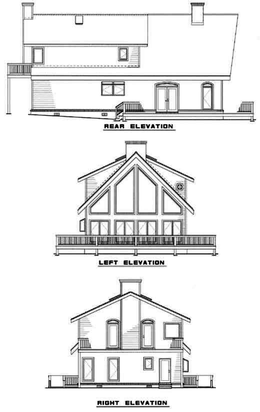 Rear Elevation Plan: 12-154