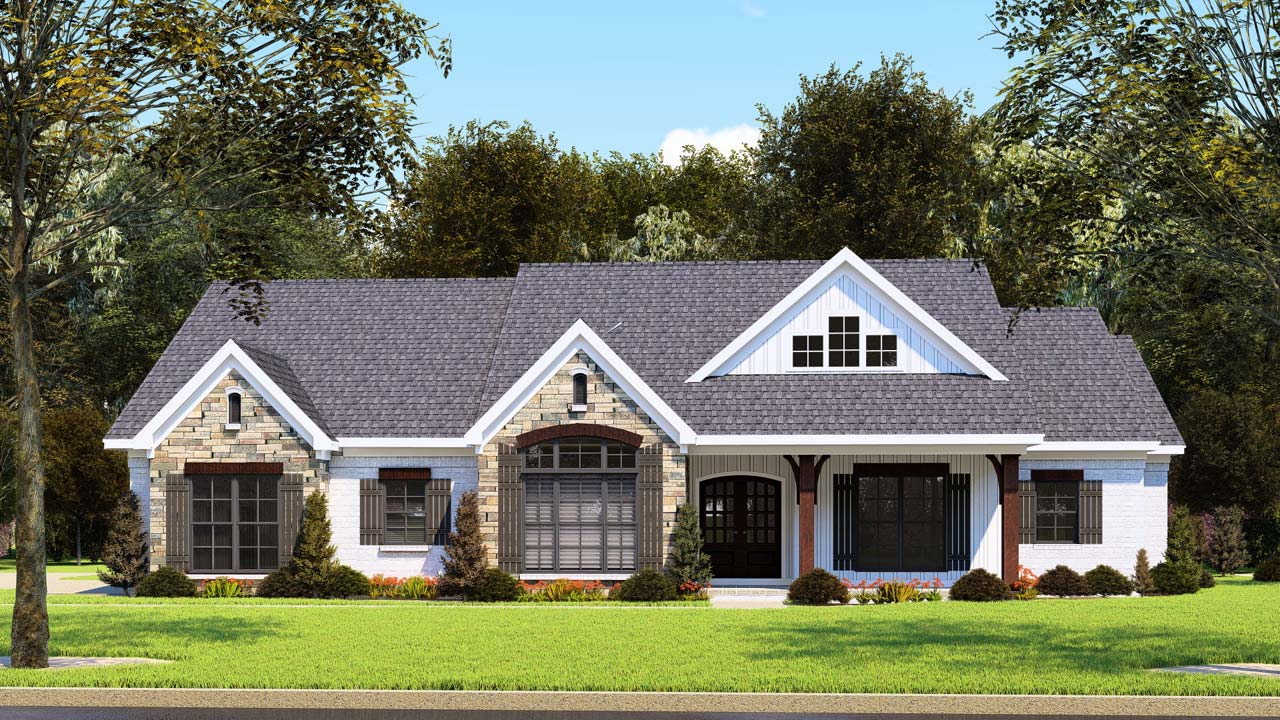 Modern-farmhouse House Plan - 3 Bedrooms, 2 Bath, 2112 Sq ...