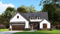 Modern-Farmhouse Style Home Design Plan: 12-1545