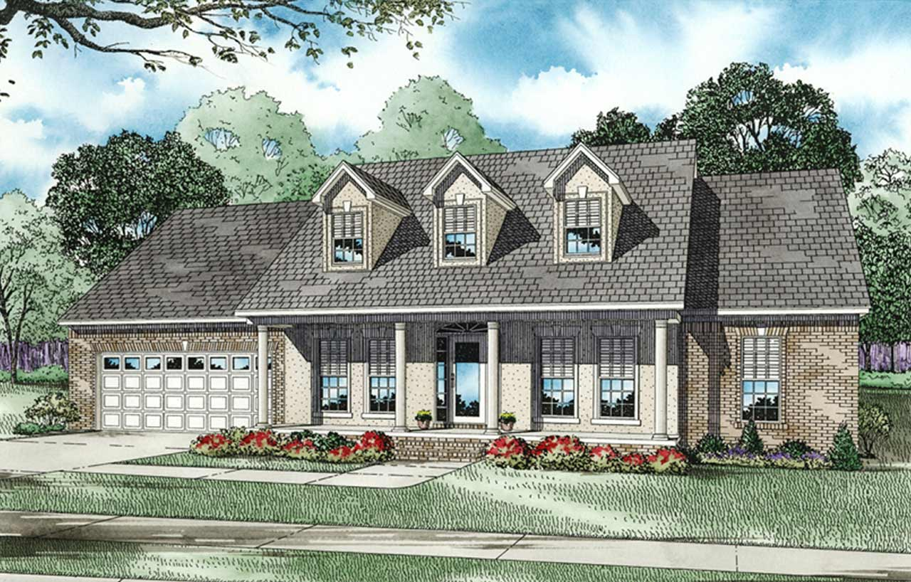 Country Style House Plans Plan: 12-155