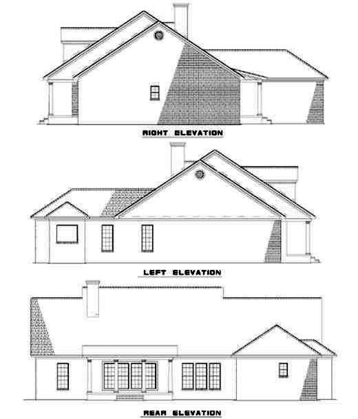 Rear Elevation Plan: 12-155