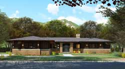 Contemporary Style Floor Plans Plan: 12-1551
