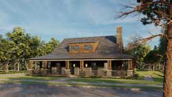 Country Style Home Design Plan: 12-1559
