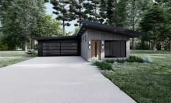 Modern Style House Plans Plan: 12-1568