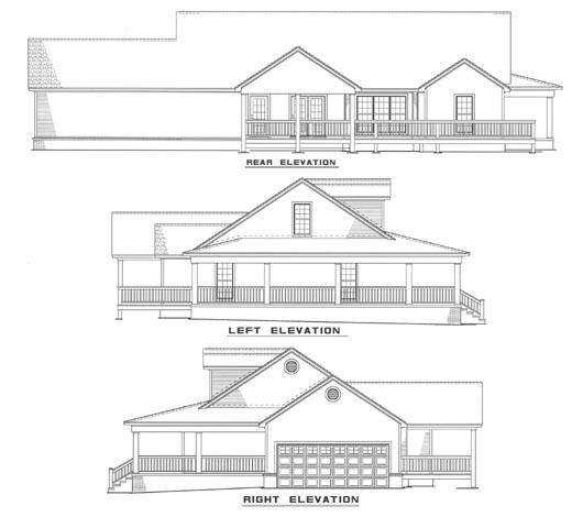 Rear Elevation Plan: 12-157