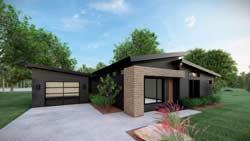 Modern Style Home Design Plan: 12-1578