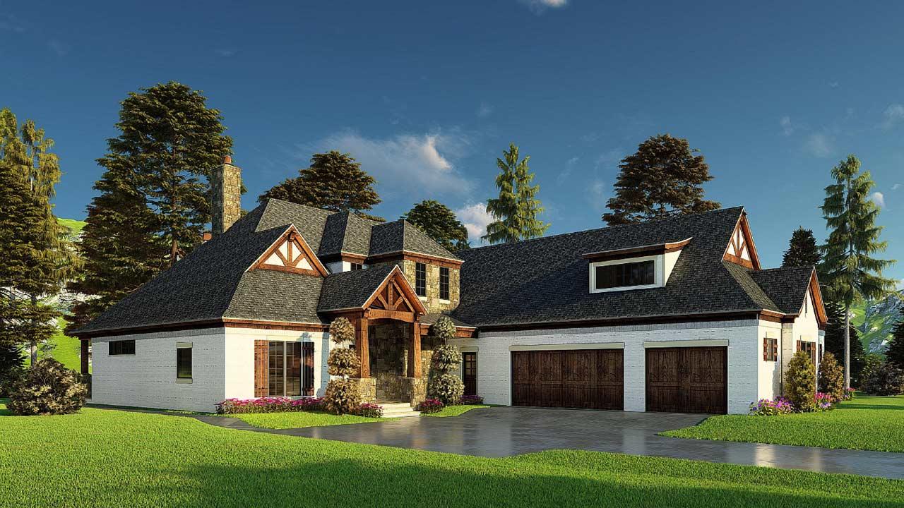 Craftsman Style Home Design Plan: 12-1579