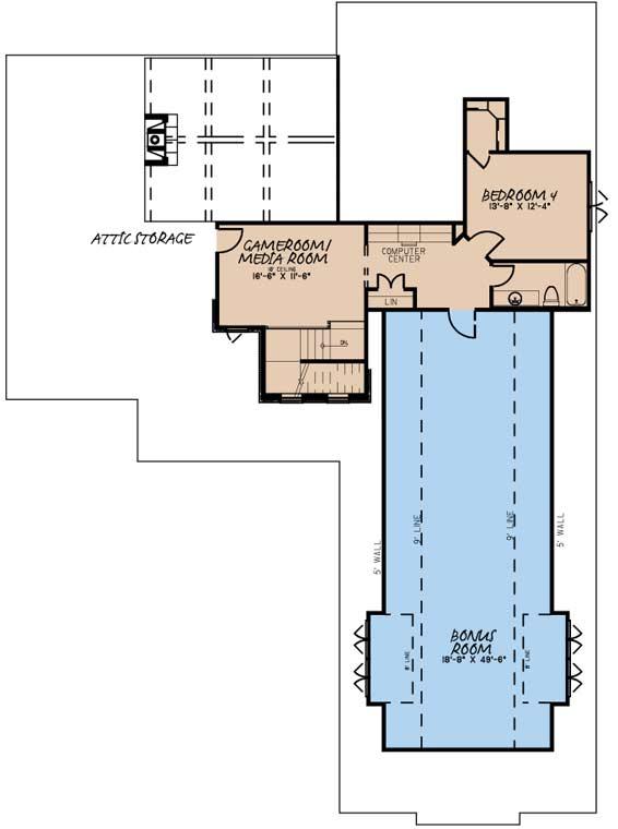 Upper/Second Floor Plan: 12-1579