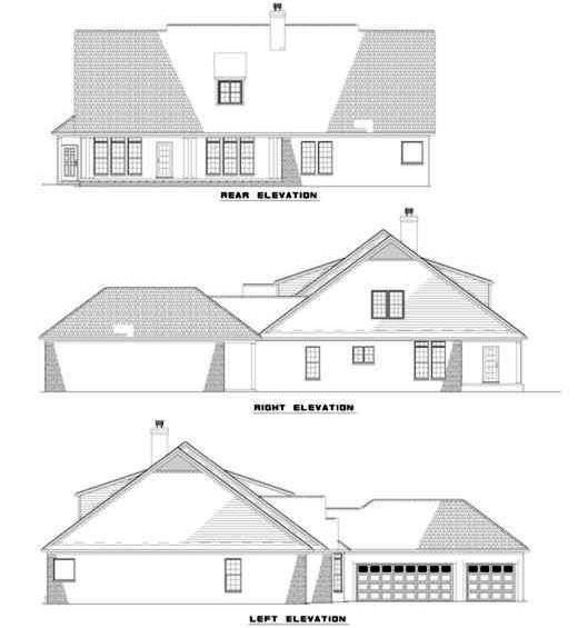 Rear Elevation Plan: 12-158
