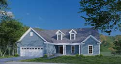 Traditional Style Home Design Plan: 12-1581