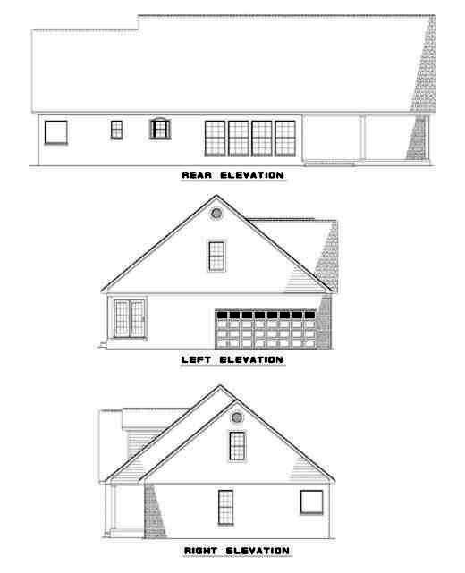 Rear Elevations Plan:12-159