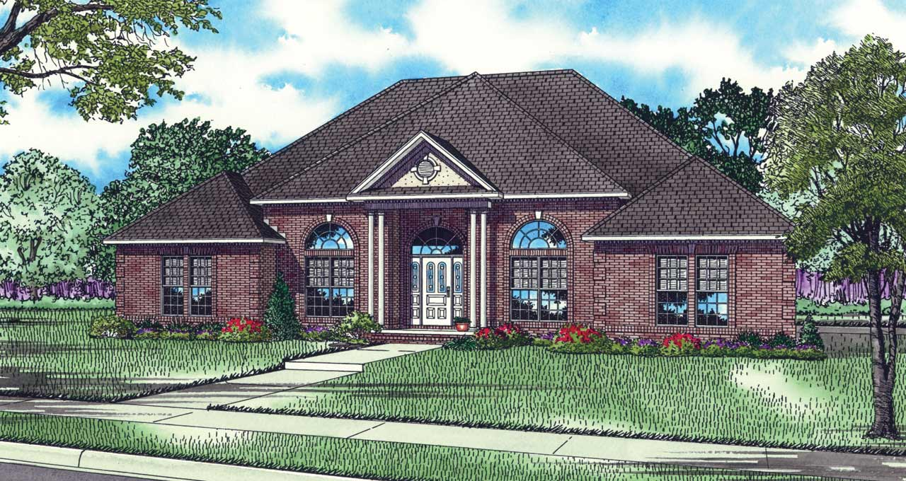 Southern Style Floor Plans Plan: 12-160