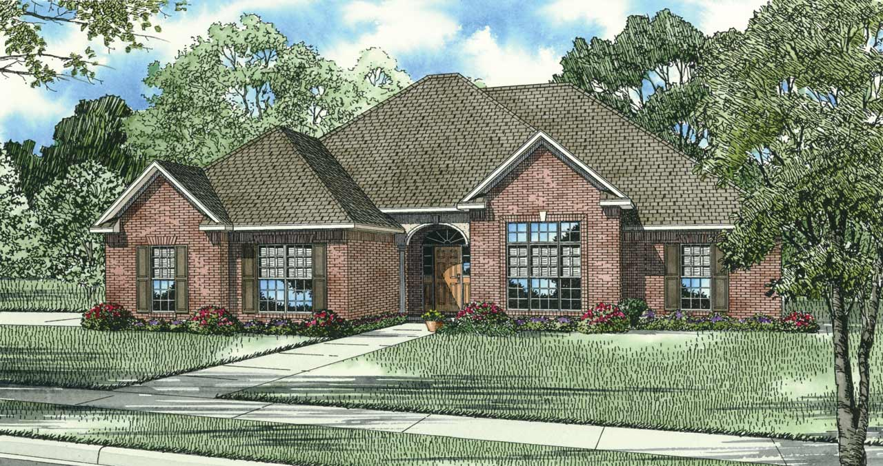 Traditional Style Home Design Plan: 12-161