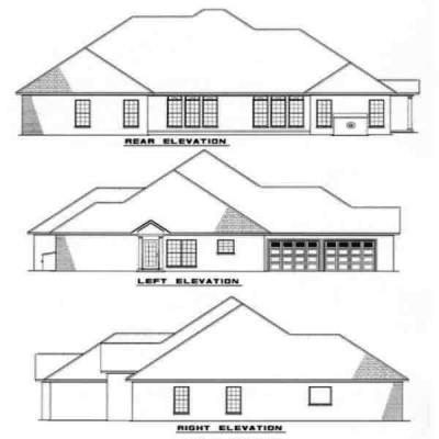 Rear Elevation Plan: 12-161