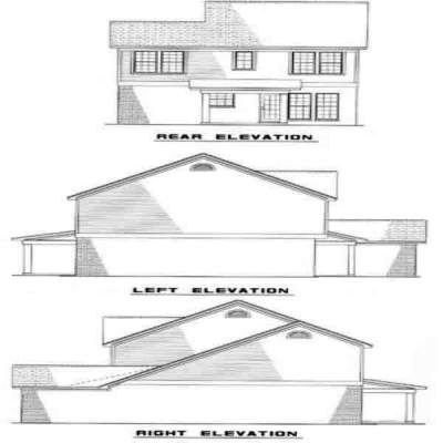 Rear Elevation Plan: 12-162