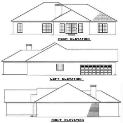 Rear Elevation Plan: 12-164