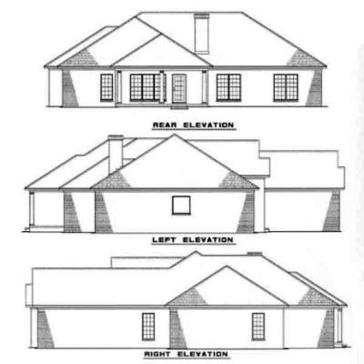 Rear Elevation Plan: 12-165