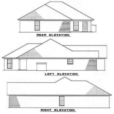 Rear Elevation Plan: 12-167