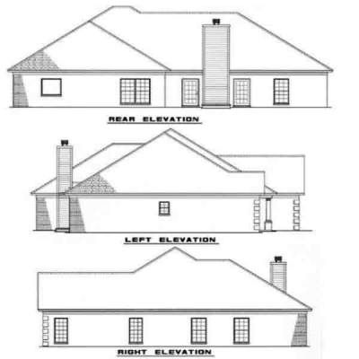 Rear Elevation Plan: 12-168