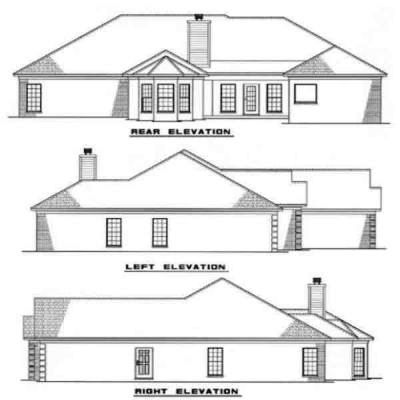 Rear Elevation Plan: 12-170