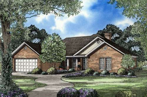 Traditional Style Home Design Plan: 12-171