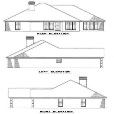 Rear Elevation Plan: 12-171