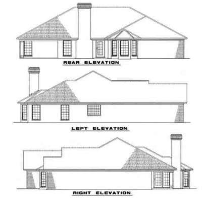 Rear Elevation Plan: 12-172
