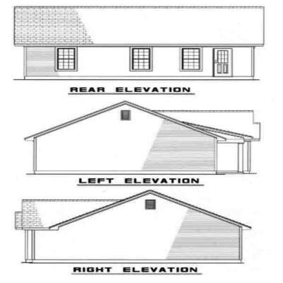 Rear Elevation Plan: 12-173