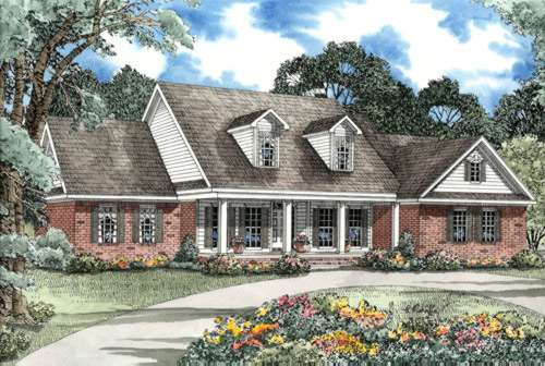 Country Style House Plans Plan: 12-174