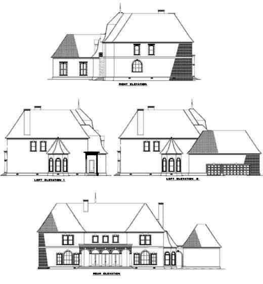 Rear Elevation Plan: 12-177