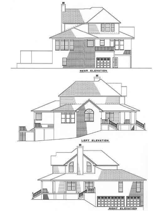 Rear Elevation Plan: 12-178