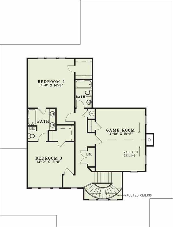 Upper/Second Floor Plan: 12-178