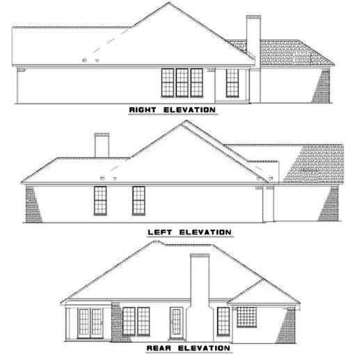 Rear Elevation Plan: 12-179