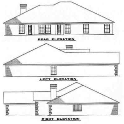 Rear Elevation Plan: 12-180