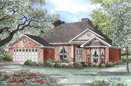 Southern Style Home Design Plan: 12-181